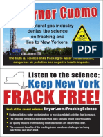 Science Not Fracking Cuomo Postcard