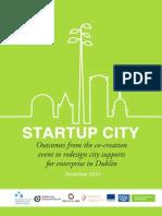 Startup City Outcomes