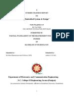 embedded design training report