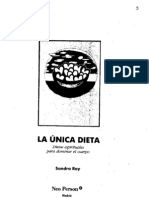 La Unica Dieta - Sondra Ray