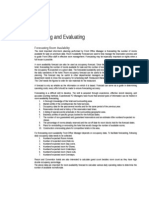 Pllanning & Evaluation