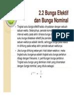 Abduk Aziz 3 MATEMATIKA ASURANSI Bunga Efektif Dan Nominal Slides
