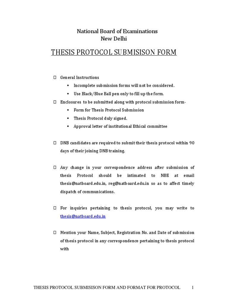 Dnb thesis submission fees