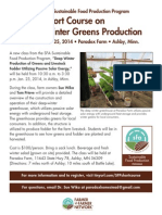 Short Course on Winter Greens Production