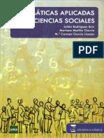 Matematicas Aplicadas a Las Ciencias Sociales. Rodriguez, Matilla, Garcia. PARTE 1