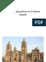 Aspectos educativos en la Nueva España