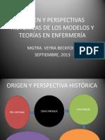ORIGEN Y PERSPECTIVAS HISTÓRICAS DE LOS MODELOS Y