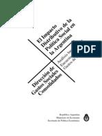 El Impacto Distributivo de La Politica Social en La Argentina