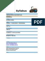 Syllabus Algebra Lineal 2009