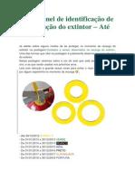 Cor do anel de identificação de manutenção do extintor