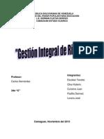 LA GESTIÓN INTEGRAL DE RIESGO