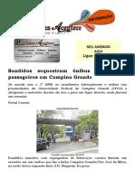 Bandidos sequestram ônibus e assaltam passageiros em Campina Grande