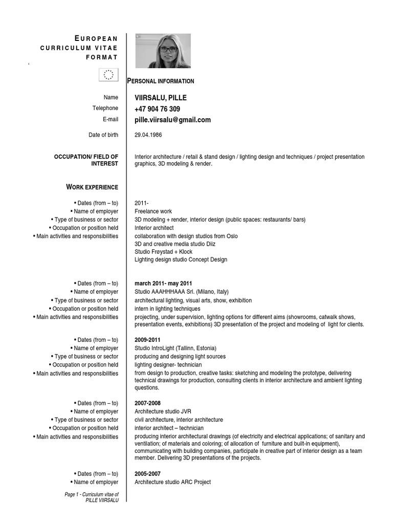 CV Pille Viirsalu