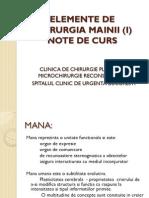 Elemente de Chirurgia Mainii (i) - Note - Copie