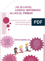 Rolul si locul jocului didactic matematic in ciclul primar