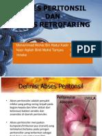 Abcess Peritonsilar Dan Retrofaring