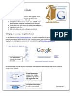 Google Docs - Tipsheet and Resource Guide