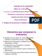 componentes de la evaluación 2