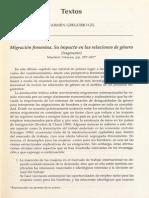 Gregorio Migracion Femenina 1998