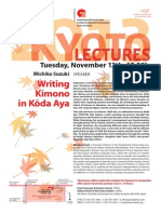 Kyoto Lectures 20131112