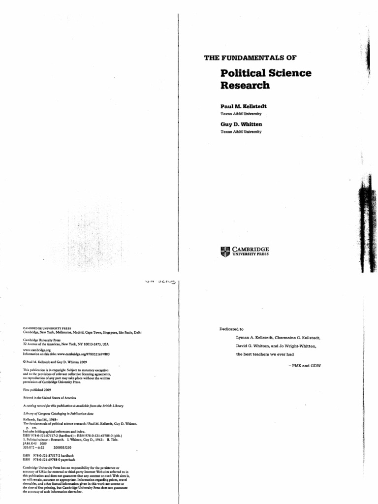 Kellstedt whitten the fundamentals of political science research kellstedt whitten the fundamentals of political science research hypothesis statistics fandeluxe Choice Image