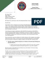 Deputy Secretary of State Staiert IEC Audit Request