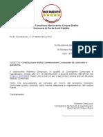 Costituzione Della Commissione Comunale Di Controllo e Garanzia