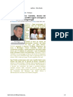 Mons. Franco Camaldo, Decano Dei Cerimonieri Pontifici Oggi In Convegno A Santa Maria Degli Angeli