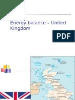Energy Balance United Kingdom (UK)