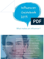 WOMMA Influencer Guidebook - 2013 PDF