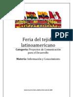 Feria del tejido latinoamericano
