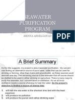 Water Purification Program