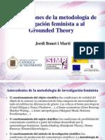 Contribuciones de la metodología de investigación feminista a la Grounded Theory