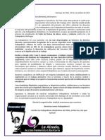 Declaración de la @La Alzada  en apoyo a la lucha de SINTRACAP por la ratificación del Convenio 189 de la OIT