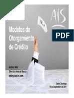 Modelos de Otorgamiento de Crédito