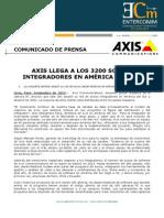Axis llega a los 3200 socios integradores en América del Sur