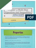 math chapter three presentation