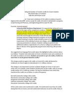 UConn Transfer Credit Proposal