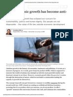 Vandana Shiva - How Economic Growth Has Become Anti-life