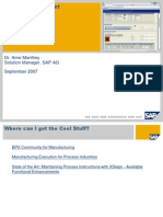 2007 Boost the PI Sheet SAP Adaptive Manuf Summit