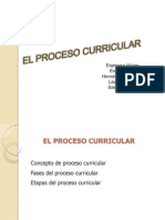 El Proceso Curricular