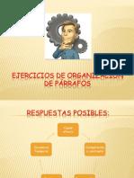 Ejercicios de organizaci+_n de p+írrafos