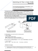 Determining Air Flow CFM