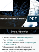 Dementa in Boala Alzheimer.