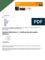 Cuadros Eléctricos 2 – Verificación del cuadro eléctrico - InfoPLC