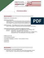 VI ENCONTRO CONCELHIO DE BIBLIOTECAS ESCOLARES - Programa