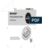 Sharp Mdsr50 Manual