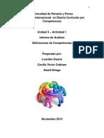 Informe Final de Definiciones de Competencias