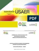Autoevaluación del modelo de desempeño docente. Educación Especial USAER. SENL. 2012