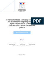 Rapport IGAS - Financement Soins EHPAD Octobre 2011